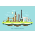 flat design composition vector image vector image