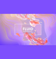 fluid gradient shapes composition liquid color vector image