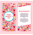 Flyer Template of Happy Valentine Day Objects and vector image