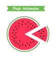 fresh watermelon logo template vector image