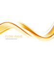 gold color abstract transparent wave design vector image vector image