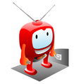 happy tv vector image
