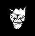 head monkey vector image vector image