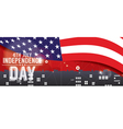 independence day pixel banner vector image vector image