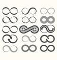 infinity symbol set15 signs eternity vector image