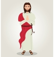 Jesus christ red cloth design vector image vector image