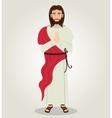 Jesus christ red cloth design vector image
