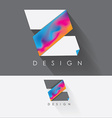 letter z colorful design element for business vector image