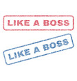 like a boss textile stamps vector image vector image