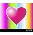 Loving pop heart vector image vector image