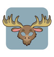 moose mask for various festivities parties vector image