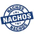 nachos blue round grunge stamp vector image vector image