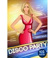 Night club party poster vector image vector image