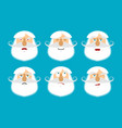old man emoji emotion set aggressive and good vector image vector image