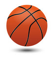 orange basketball ball design and shadow on white vector image vector image