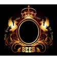 ornate beer background vector image vector image