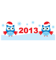 Owls And New Year vector image