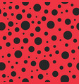 pattern seamless with ladybug red background vector image vector image