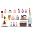 perfume shop icon set vector image vector image