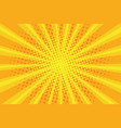 pop art sunburst pattern comic halftone vector image vector image