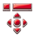 Red Cartoon stone buttons for game or web design vector image vector image