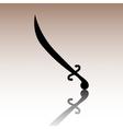 Saber black icon vector image