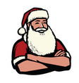 santa claus christmas symbol vector image vector image