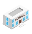 School building isometric 3d icon vector image