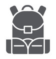 schoolbag glyph icon rucksack and bag backpack vector image vector image
