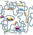 seamless flat cartoon road vector image vector image