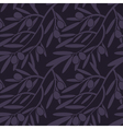 Seamless pattern with olive branches Retro vector image