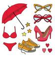 set fashion accessories vector image