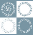 set xmas greeting frames vector image