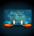 shiny diwali background vector image vector image