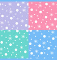 snow pattern on pastel tones vector image