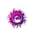 sound speaker and color ink splash blob isolated vector image