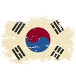 South Korea grunge flag vector image vector image