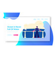 summertime relaxing at sea website landing page vector image
