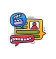 talk about movie and film doodle chat icons vector image vector image