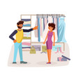 the married couple quarrels in flat design vector image vector image