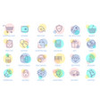 thin line online store sopping icon set vector image vector image