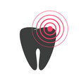 tooth pain icon flat or toothache disease vector image vector image