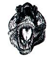 tyrannosaur portrait grunge vector image