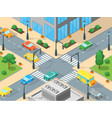 urban traffic template isometric view vector image vector image