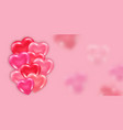 valentines day banner or card template vector image