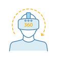 virtual reality video color icon vector image