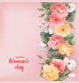 women s day background vector image vector image