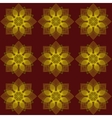 Pattern flowers on a red background vector image