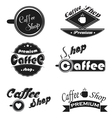 Caffee icons set on a white background vector image