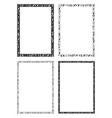 Egyptian hieroglyphic decorative frames vector image